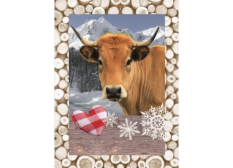 torchon imprimé vache
